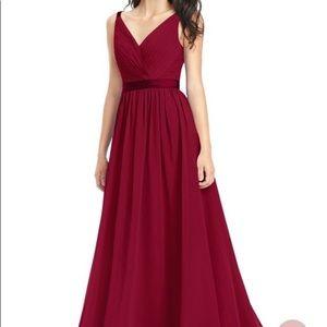 Azazie Burgundy Bridesmaids Dress size A4